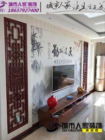 洛阳三居室新中式风格装修效果图
