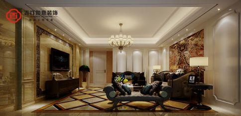 福州香开新城19#01 四居室欧式风格装修效果图