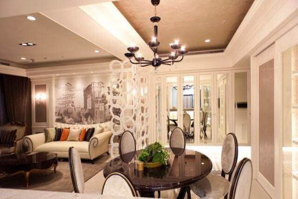 无锡百乐和园 140平欧式风格装修设计效果图