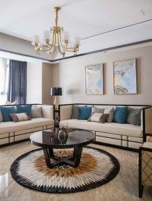 武汉光谷华清园 三居室新中式风格装修设计效果图