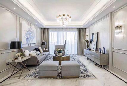 长沙绿地 欧式风格家庭装修设计效果图