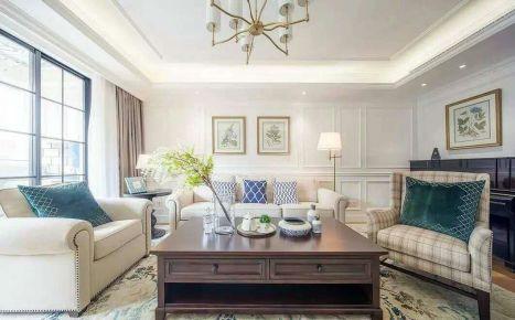 长沙橡树湾 三居室美式风格装修设计效果图