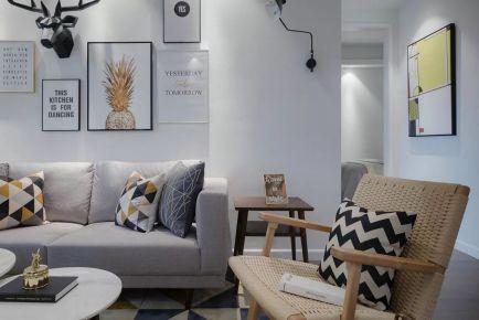 武汉金桥汇小区 三居室北欧风格装修设计效果图