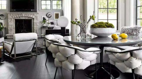 高级黑现代住房装修设计效果图