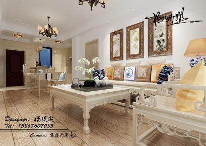 宁波博府丽景湾 二居室中式风格装修设计欣赏