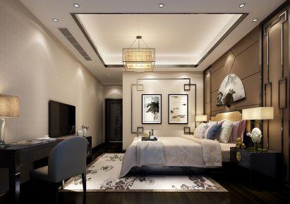 佛山中信山语湖 159平米新中式风格家庭装修设计