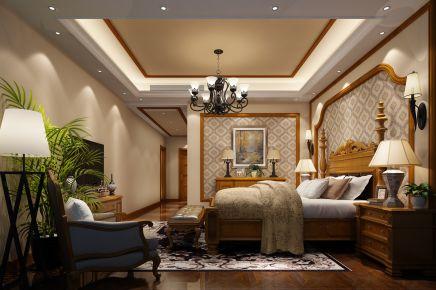 佛山中信山语湖 303平米美式风格家庭装修设计