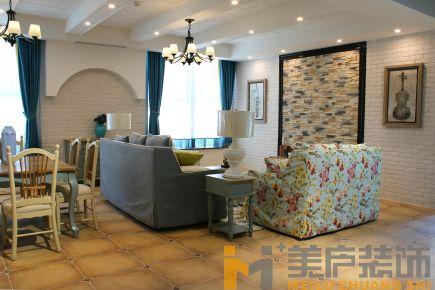 泉州三居室田园风格家庭装修设计效果图