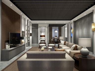 武汉保利香颂 东南亚风格三居室装修效果图