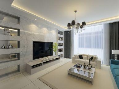 西安浐灞一号现代简约家庭装修设计效果图