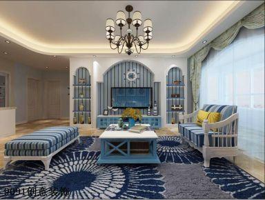 合肥和昌华府 地中海风格家庭装修设计效果图