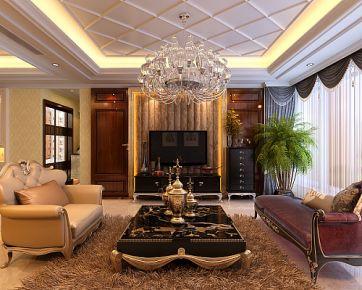 深圳湾畔花园 美式风格家庭装修设计案例效果