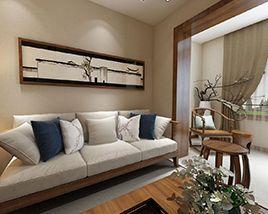 俏业家|重庆世茂茂悦府70平|两居室|中式风格|效果图