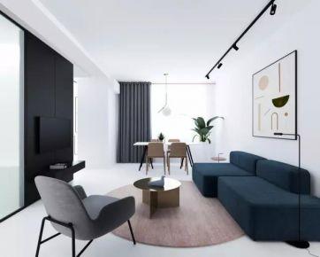 72平米经典大气的黑白美宅
