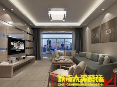 洛阳东陌映像127平米现代简约装修设计效果图