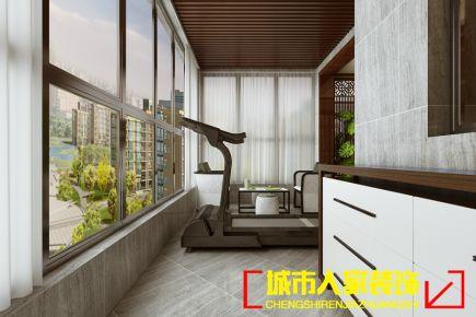 洛阳中宏中央广场198平米新中式家庭装修效果图