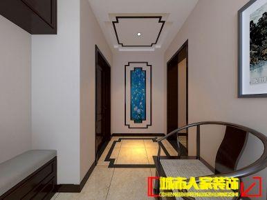 洛阳国宝花园现代中式风格室内装修设计