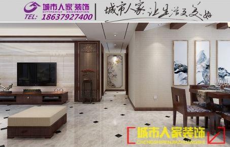 洛阳四居室新中式风格装修设计效果图