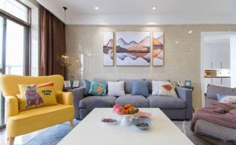 【众意】武汉山水年华-北欧混搭风家庭装修设计效果图