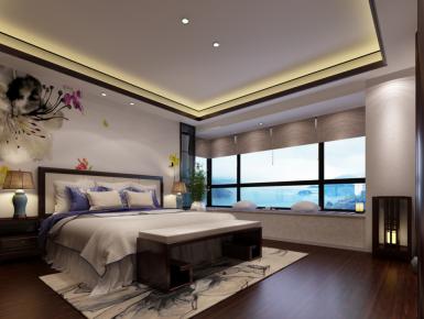 无锡百乐和园 新中式家庭装修设计效果图