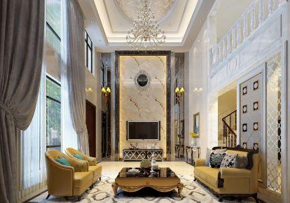 东莞加州阳光 复式楼现代风格装修设计效果图