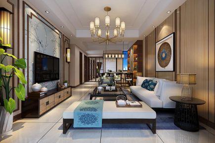 艺饰光作品--合肥佘山珑原新中式家庭装修设计效果图