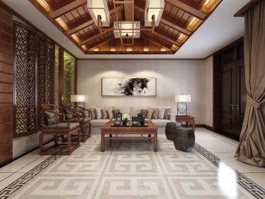 天津盛世郦园 中式别墅装修设计效果图