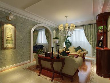 天津风荷园 欧式风格家庭装修设计效果图