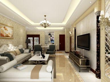 武汉咸宁福星城 三居室欧式风格装修设计效果图