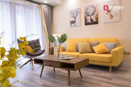 重庆俏业家装饰|北大资源博雅|80平米3室|北欧风格|实景图案例