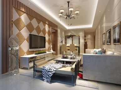 中山金水湾莫生雅居装修 二居室现代风格装修效果图
