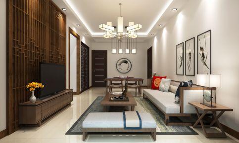 中山中澳滨河湾伟哥雅居装修  三居室中式风格装修设计