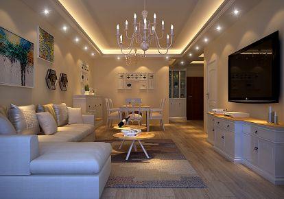 东莞东城新世界花园 二居室欧式风格装修案例
