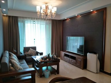 东莞南城恒大雅苑二居室中式风格装修案例