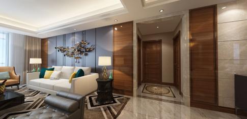 武汉世纪江尚 三居室现代风格家庭装修设计