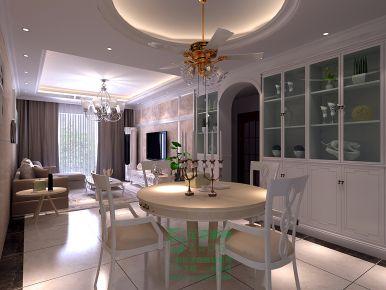 东莞石湾帝庭国际三居室欧式风格装修案例