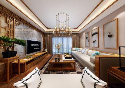 武汉江城华庭 四居室复古风装修效果图