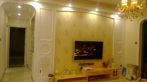 中山宝嘉上筑王小姐雅居 三居室欧式风格装修设计效果图