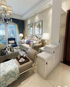 武汉百步亭现代城 三居室欧式风格装修设计效果图