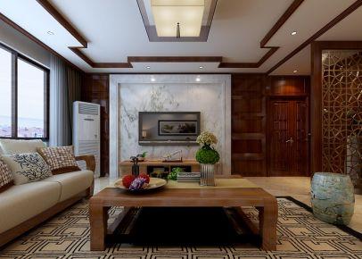 兰州紫苹果装饰120平米中式风格装修案列