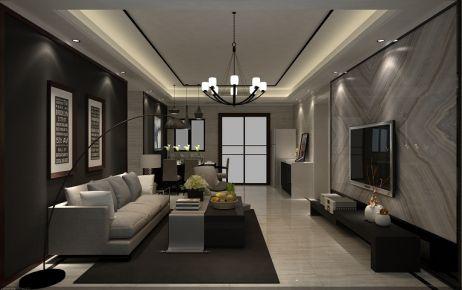 佛山保利西雅图 三居室现代风格装修设计效果图