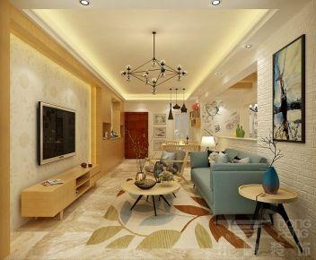 佛山保利东湖林语 三居室美式风格装修设计