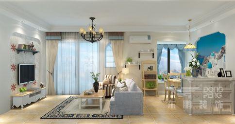 佛山奥园一号 三居室地中海装修设计效果图