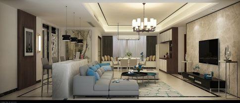 佛山星星凯旋国际 三居室现代风格装修设计