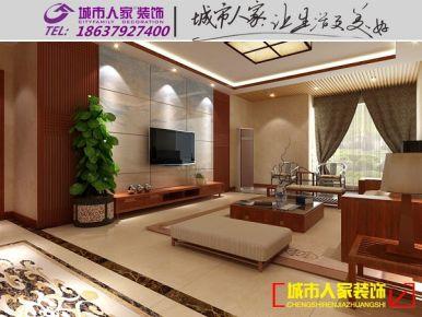 洛阳帝都国际城新中式风格装修设计
