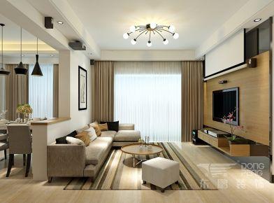 佛山滨江一号 三居室家庭装修设计效果图