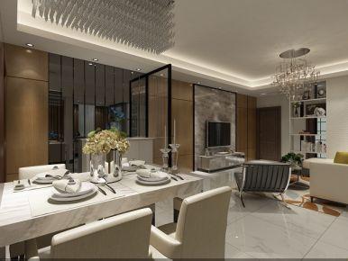 佛山奥园一号 三居室现代风格装修设计效果图