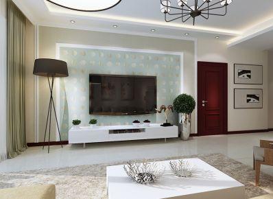 140平现代简约风清新大三居装修设计欣赏