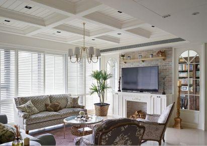 贵阳银河世纪 150平优雅美式风格三居室装修