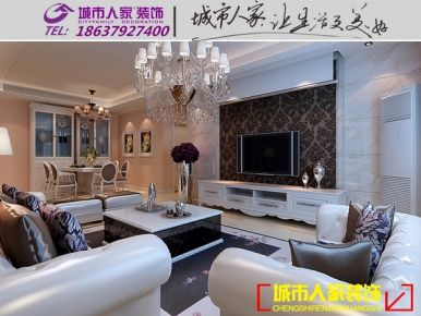 洛阳升龙广场简欧风格家庭装修设计效果图